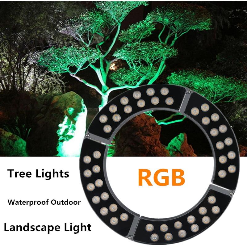Landscape Lighting Tree Spotlight Tree Lights Waterproof Tree Holding Outdoor Lighting Lawn Courtyard Square Christmas Decor LED