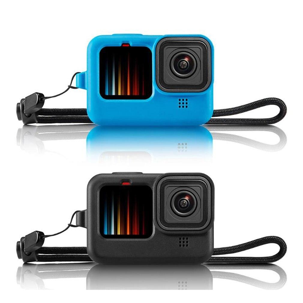 Силиконовый защитный чехол для GoPro Hero 8 Black Sleeve Чехол рамка с ремешком аксессуар для Go pro 8 чехол чехол