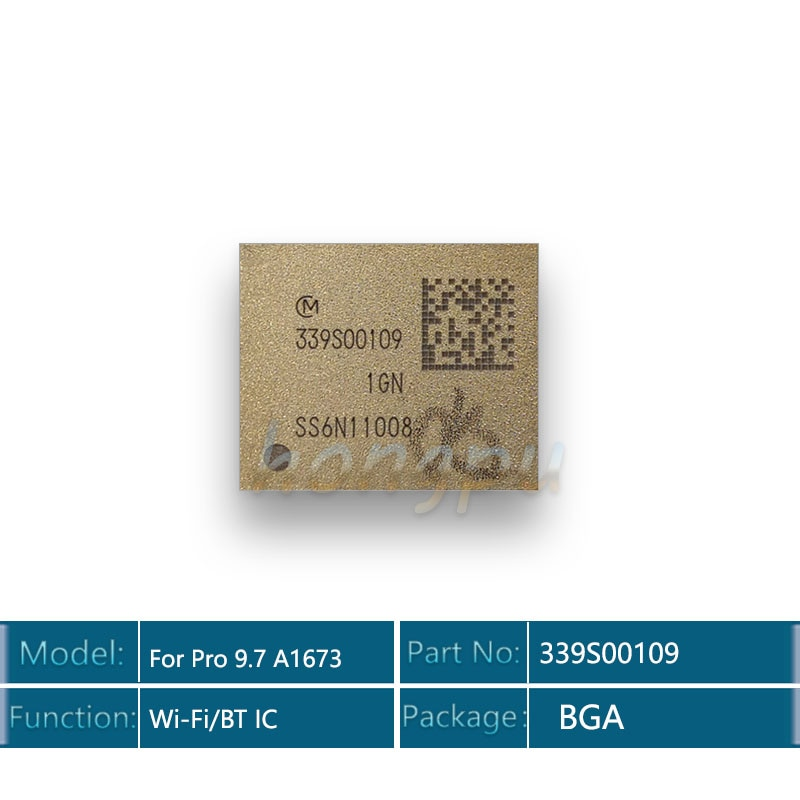 3 unids/lote 339S00109 módulo wifi para ipad 9,7 A1673 WiFi chip bluetooth para ipad pro wifi ic módulo Wi-Fi versión Wi-Fi