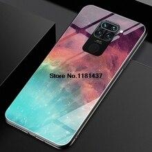 Étui pour Redmi Note 9 verre trempé boîtier ciel étoilé Design Funda pour Redmi Note 9s 9 8 7 6 5 Pro 10X 4G housse antichoc Funda