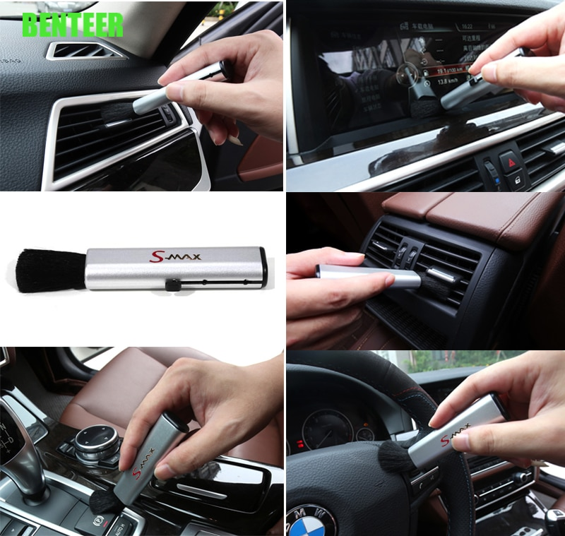 Carro interior limpo ferramentas adesivo para ford smax