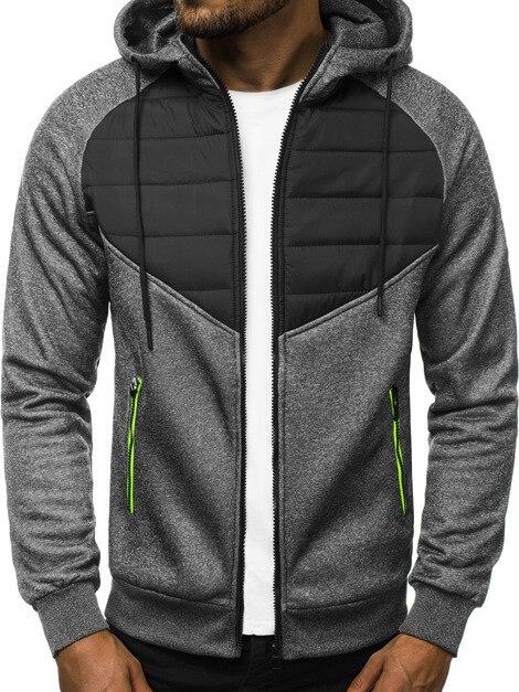 Мужская теплая толстовка на молнии, куртка с капюшоном, с подкладкой, цветное Спортивное Мужское пальто, весна 2021