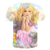 3d printed childrens shirt summer short sleeve shirt 3d printed cartoon characters cute and funny patterns boys and girls t shi
