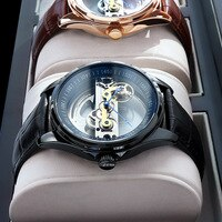 Binkada  2021New pattern Designer  LuxuryMechanical Wristwatch Superior Quality Stainless Steel GMT Top Brand Men Watches Reloj