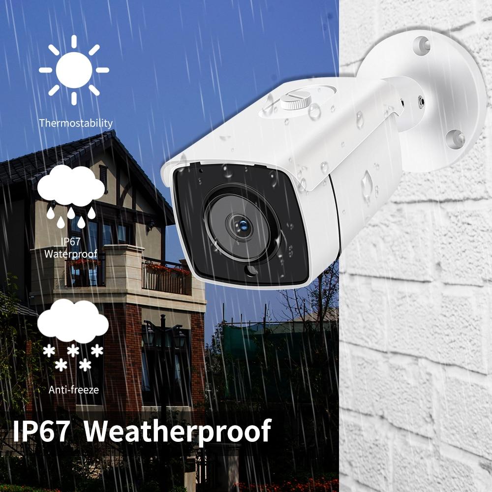 New 4K Ultra HD 8MP H.265 POE NVR Security Camera System Kit Outdoor Waterproof CCTV Camera