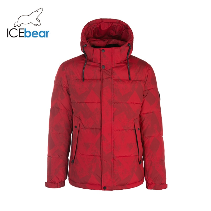 ICEbear 2019 nueva chaqueta de invierno para hombre, abrigo de moda para hombre, abrigos cálidos a prueba de viento MWD19908I