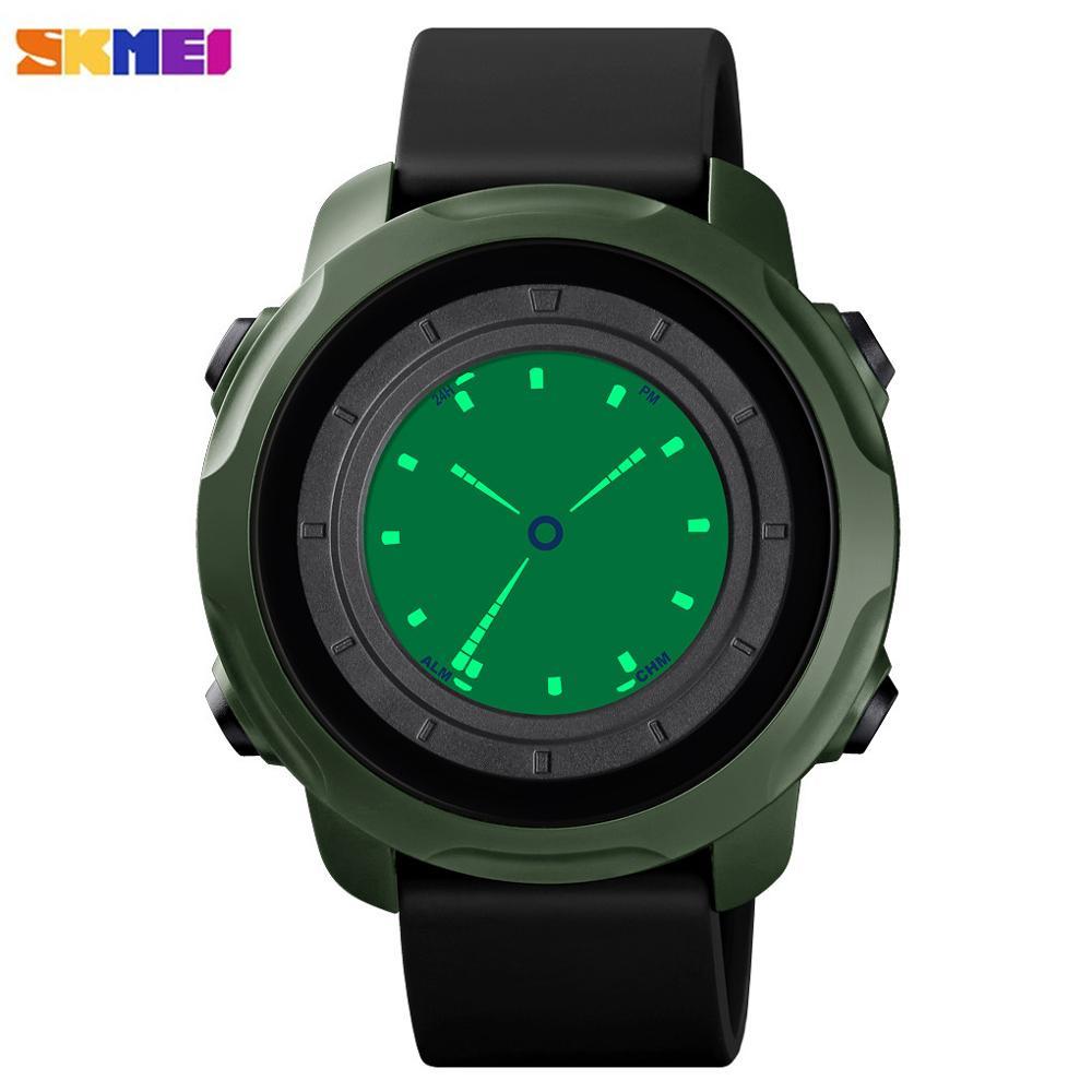SKMEI Creative Watch l Men Digital Watch Waterproof Stopwatch Alarm Sport Wristwatch Male Clock Dual Time Mode Relogio Masculino