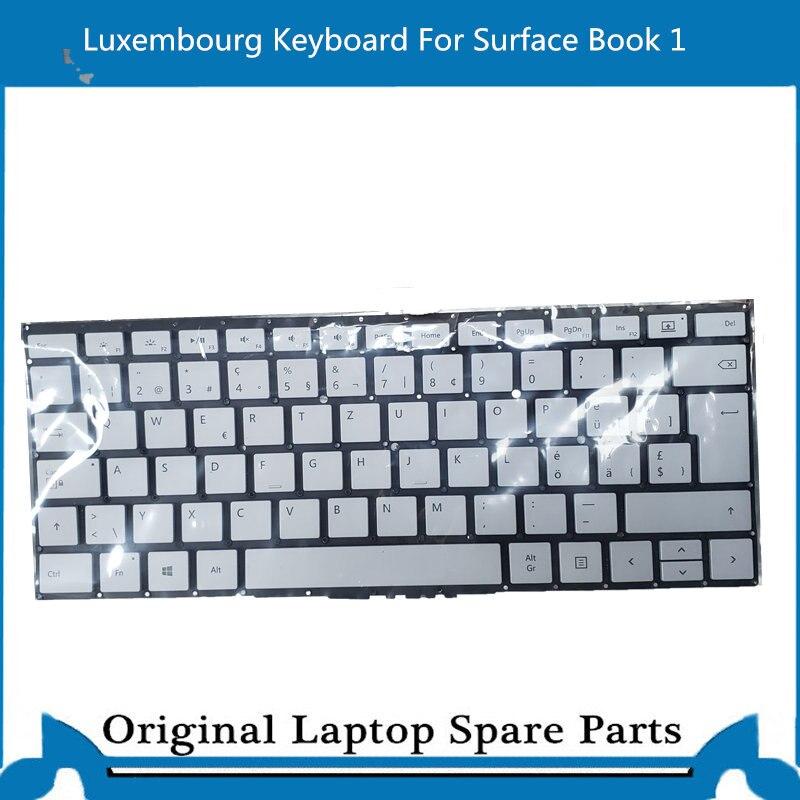 لوحة المفاتيح الأصلية لمايكروسوفت السطح كتاب 1 13.5 بوصة KB لوكسمبورغ تخطيط 1703 1705 1704