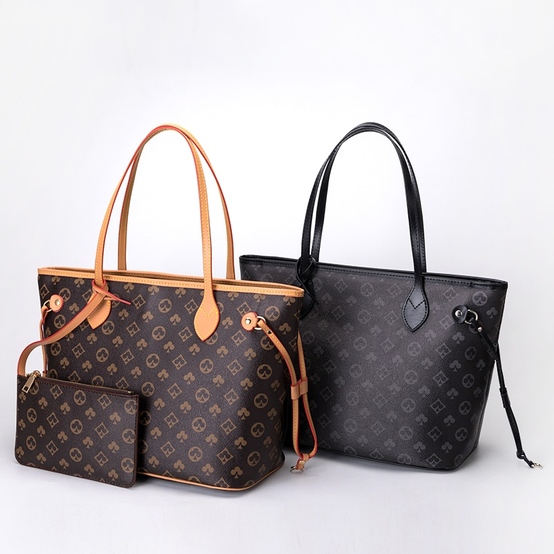 in the spring of 2018 new wings and big bag leather handbag Large capacity  handbag women shoulder bags fashion Korean version of the printed tote portable mother and child  big bag