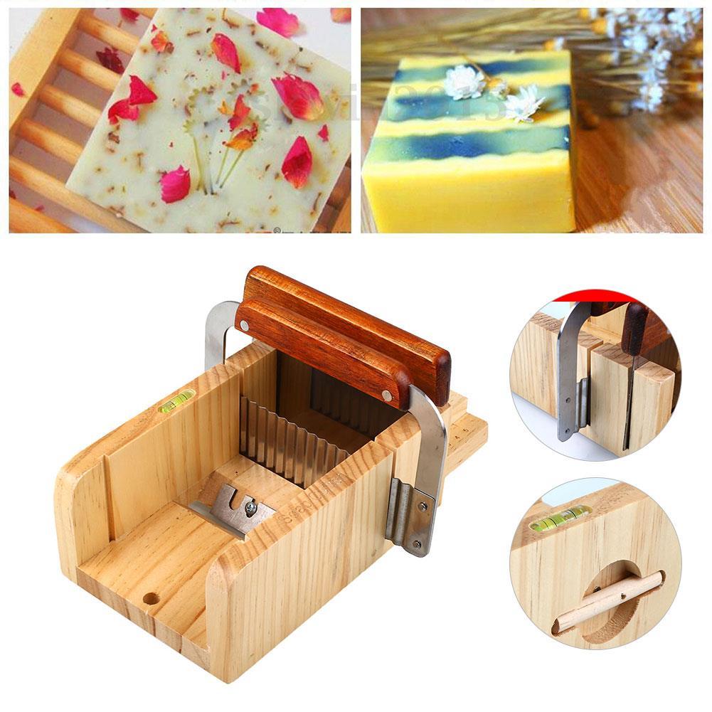 Molde de sabão 3 pçs artesanal conjunto ajustável cortador de madeira slicer profissional pro ferramentas kits diy criativo presente aniversário