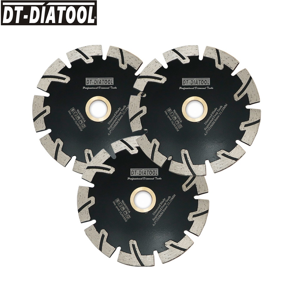DT-DIATOOL 1pc Hot pressed Segmented Deep Teeth Diamond Saw Blades Cutting Disc for cutting Granite Stone Concrete Cutting Wheel