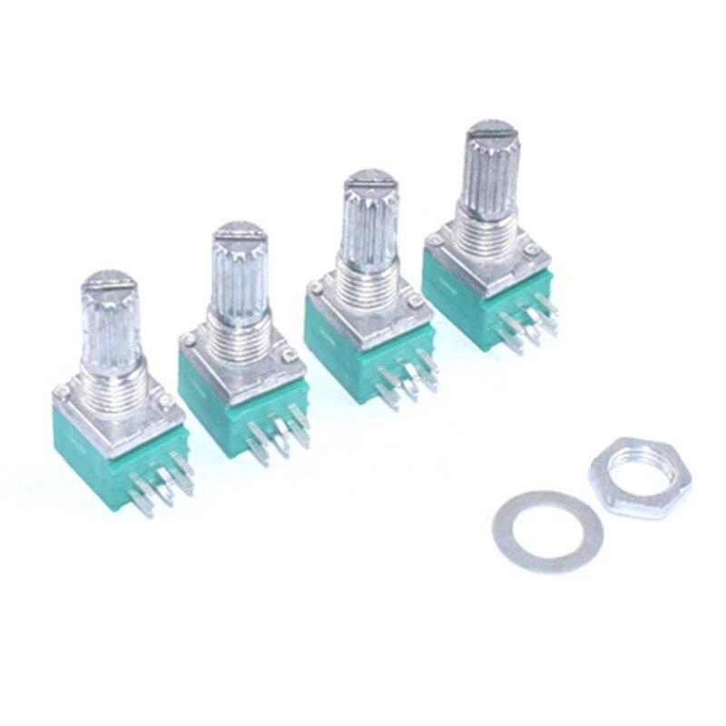 10 stücke RK097G 5K 10K 20K 50K 100K 500K B5K mit einem schalter audio 6pin welle 15mm verstärker abdichtung potentiometer