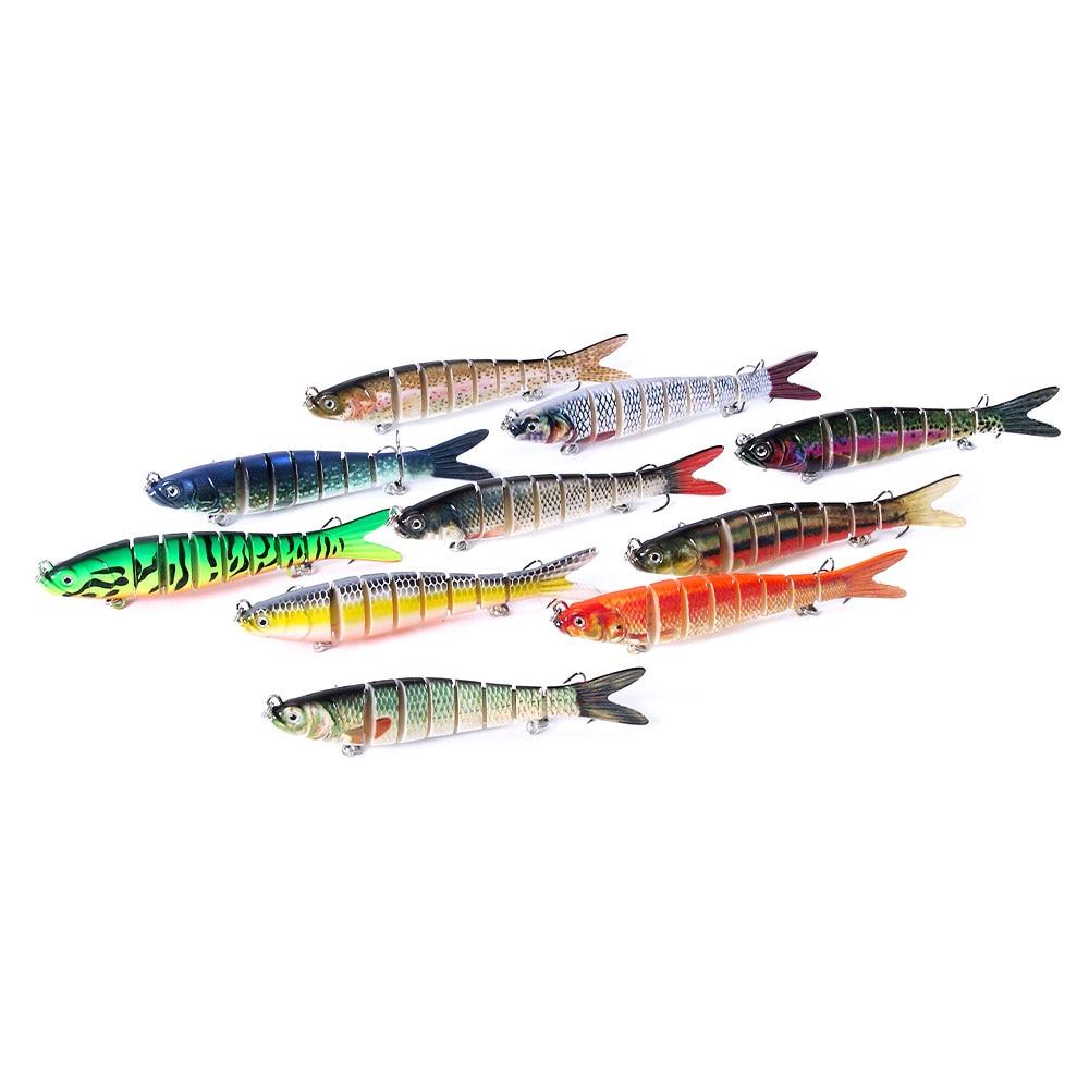 1pc 10cm 11g naufrágio wobblers isca de pesca articulada swimbait pique pesca isca artificial 8 segmentos duro pesca da carpa enfrentar
