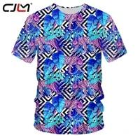 cjlm 2020 new fashion pattern mens tee shirt 3d big size custom printed blue leaf leopard t shirt man casual o neck tshirt 5xl