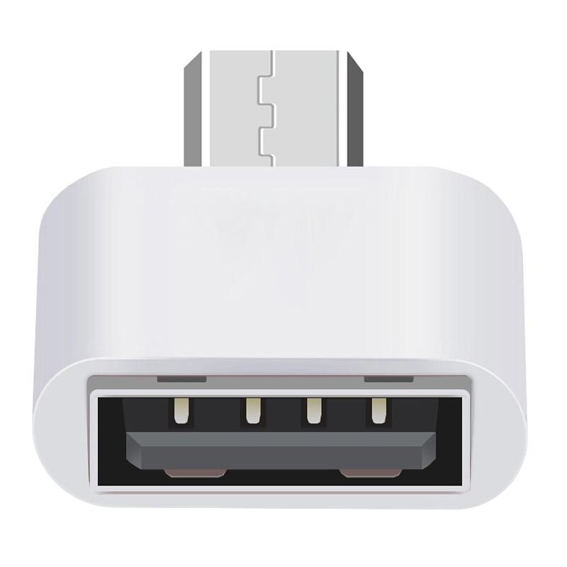 Nuevo convertidor de enchufe adaptador USB 2,0 de 3 colores tipo A conector hembra A Micro usb hembra 2,0 A Conector Micro usb al por mayor TSLM1