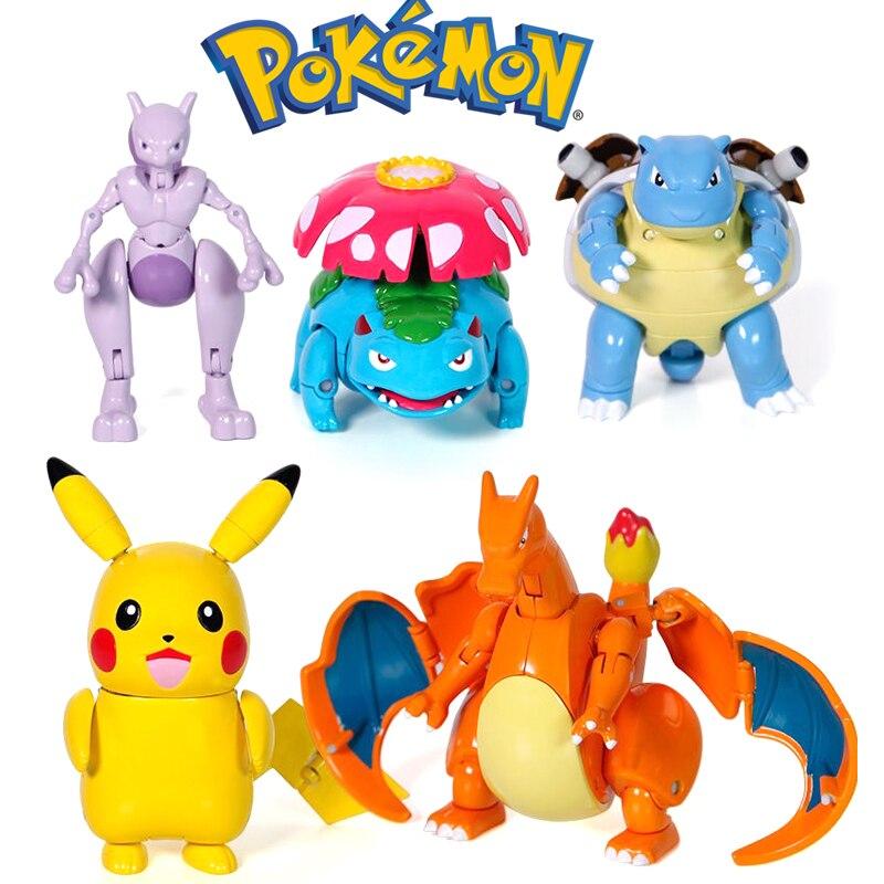 Фигурки покемонов, игрушки, фигурки аниме, Покемон, Пикачу, Чаризард, Mewtwo, Сквиртл, Покемон, экшн-фигурки, Детские модели кукол