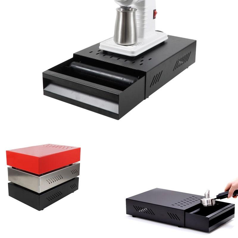 Caja de estilismo para salpicadero profesional de acero inoxidable, para café expreso, café, café, Bar o molido