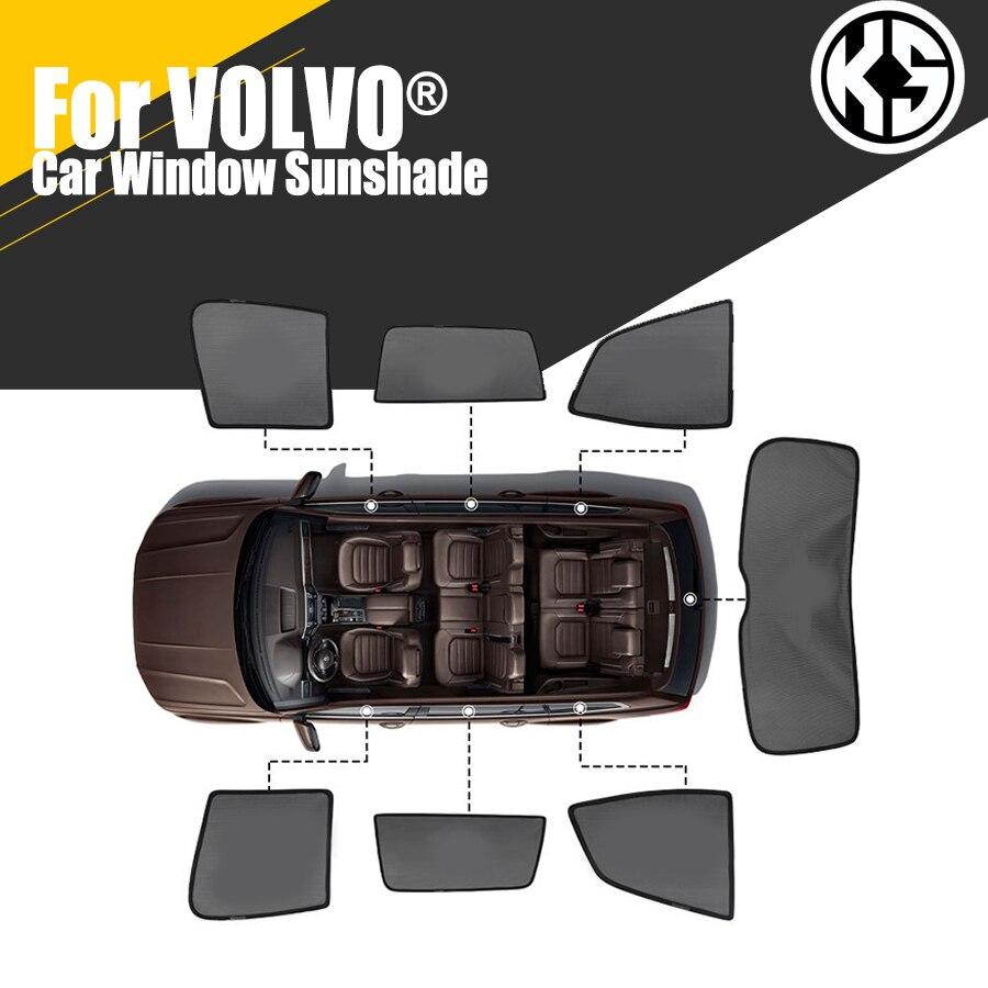 Магнитные боковые автомобильные солнцезащитные козырьки на заказ для VOLVO S60 S90 XC60 XC90 V60 V40, оконные шторы, солнцезащитные козырьки, летние