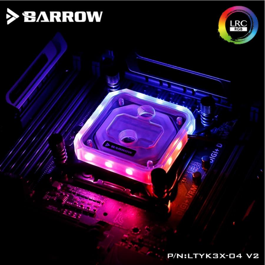 بارو LTYK3X-04-V2 ، ل إنتل Lga2011 X99/X299 وحدة المعالجة المركزية المياه كتل ، LRC RGB v2 الاكريليك Microwaterway مياه التبريد كتلة