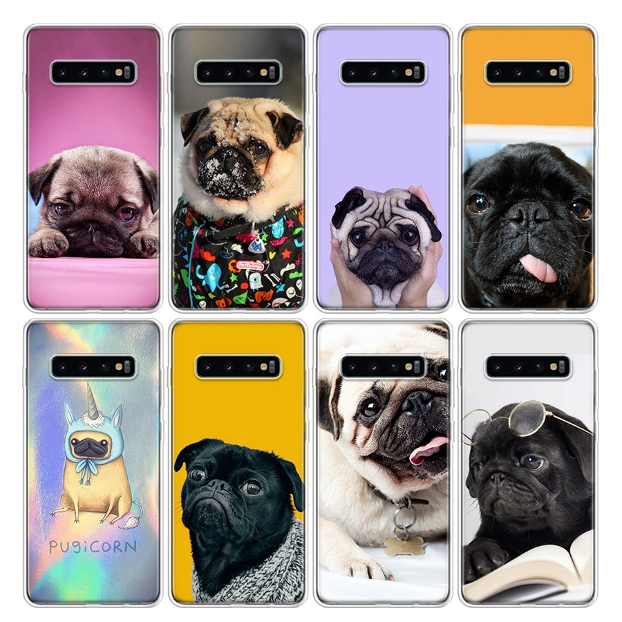 Lindo perro caso de teléfono para Samsung Galaxy A51 A71 A50S A10 A20E A30 A40 A70 A01 A21 A41 A11 A6 A7 A8 A9 Plus +