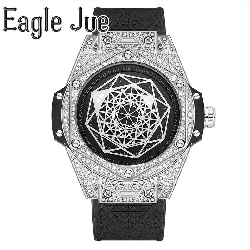 Eagle Jue Luxury Top Brand Quartz Watch Men's Leather Strap Military Sports Watch Men's Waterproof Watch Relogios Masculino
