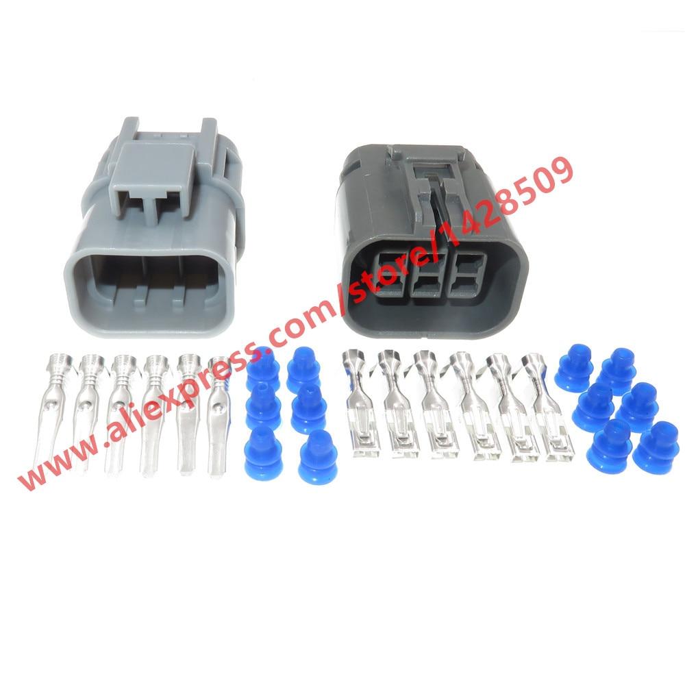 موصلات كهربائية مقاومة للماء للسيارات ، 20 مجموعة ، 6 دبابيس ، ذكر ، أنثى ، 7122-1864-40 ، 7223-1864-40