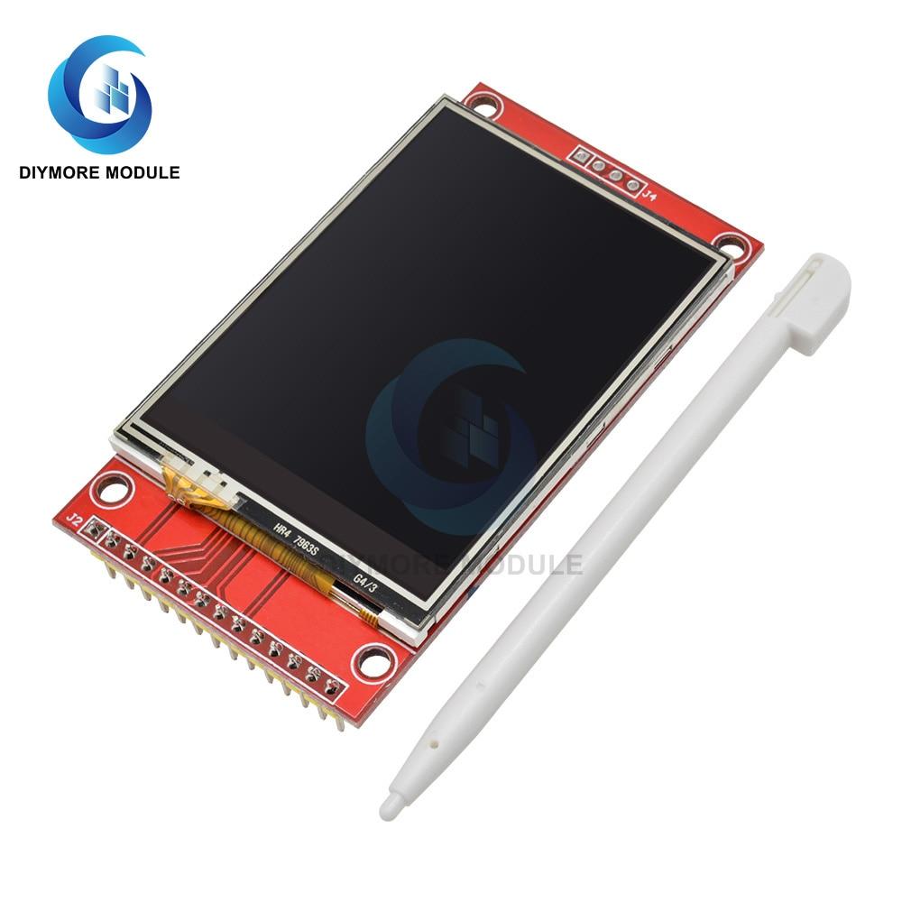 2,4 дюймов TFT ЖК дисплей сенсорный Экран щит Дисплей модуль RGB 240*320 ILI9341 Управление последовательный интерфейс SPI для Arduino UNO R3