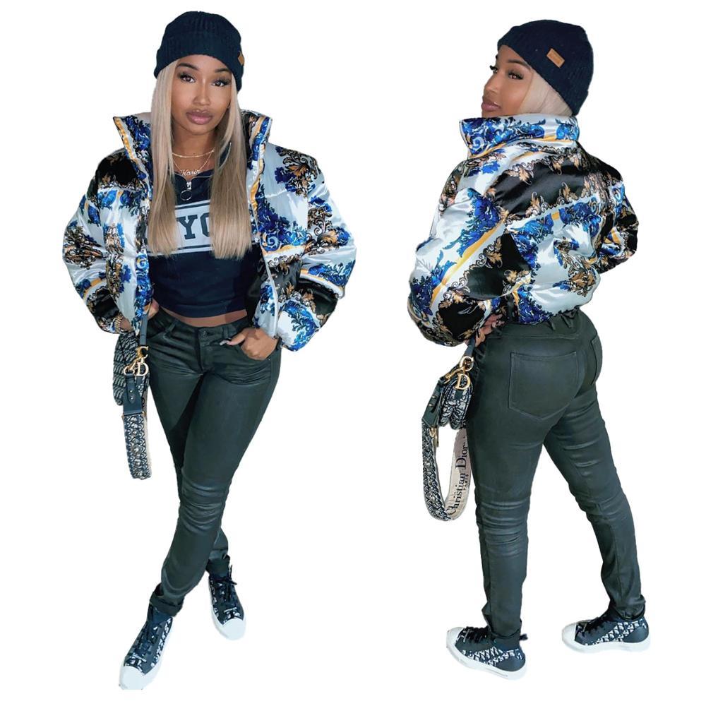 Женская уличная куртка-пуховик с однотонным стандартным воротником, короткая куртка большого размера d, зимняя Осенняя Женская куртка-пухо...