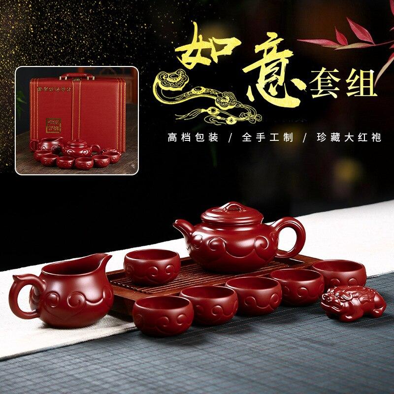 El mejor recomienda traje manual pura regalo tetera de té dahongpao ruyi olla de archaize