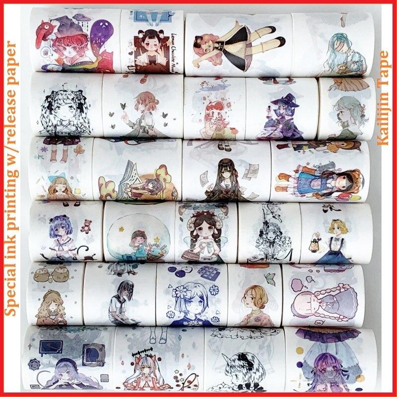 Современная девушка серии Декоративный скотч с принтом w/бумага для выстилания/красоты Бумажная лента васи DIY декоративная лента