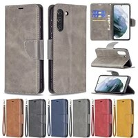 solid color leather phone case for samsung galaxy s21 fe s20 ultra note 20 10 s10e s9 s8 plus flip protection business cover