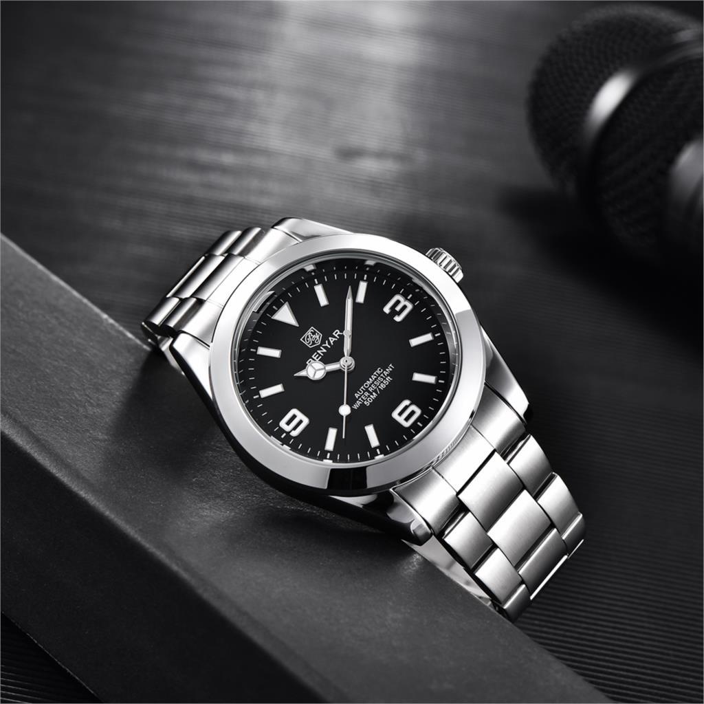 Relógio de Luxo Relógio de Fabricação Automático à Prova Benyar Masculino Moda Esportes Multifuncional Dmonte Água Monte Homme 2021