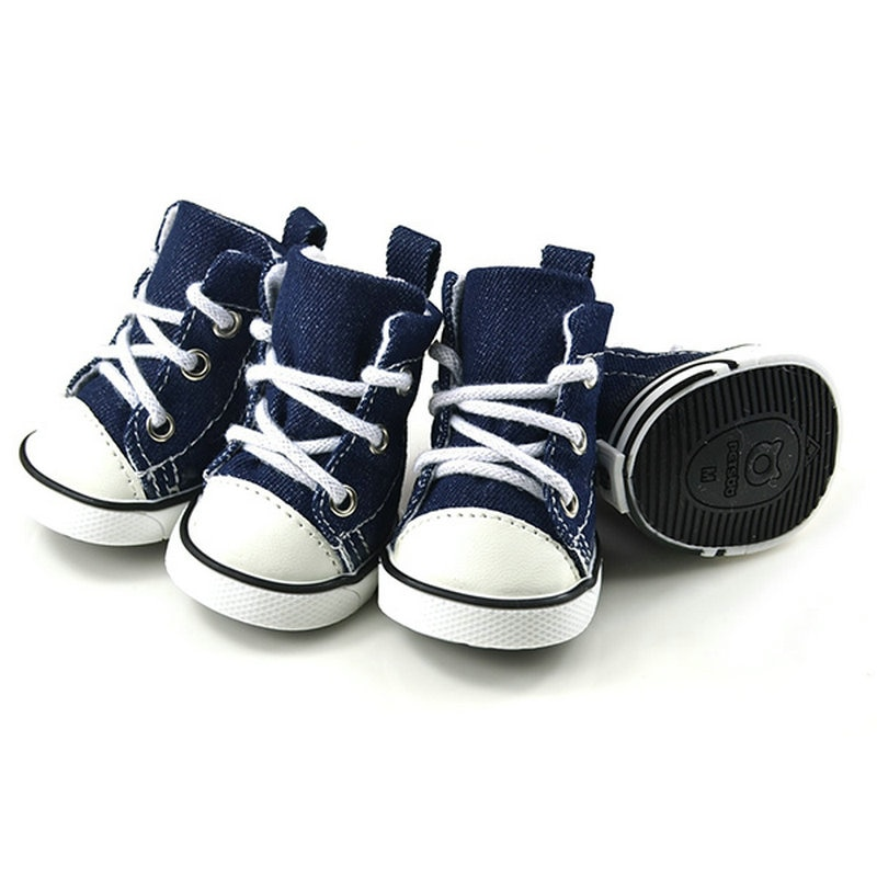 Zapatos cálidos para perros de 4 Uds., antideslizantes para mascotas para perros pequeños, gatos, Chihuahua Yorkie, botas gruesas para nieve para perros, calcetines de flence Bulldog Z