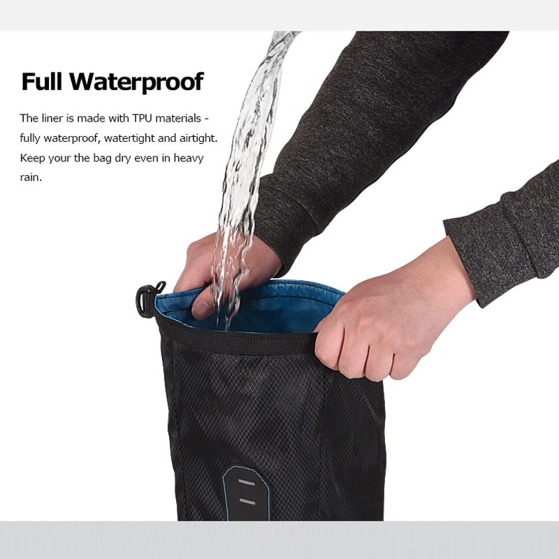 Sahoo Full Waterproof 7L Dry Bag Mountain Cycling Bicycle Saddle Bag Seat Tail Rear Pack Storage Pouch MTB Bike Accessories