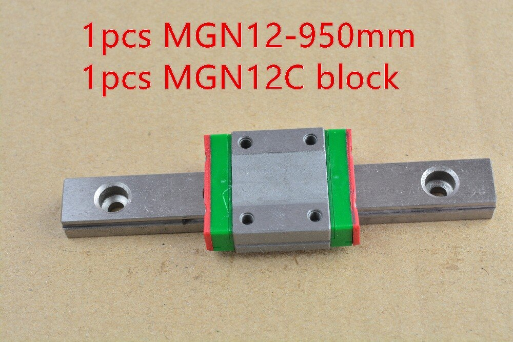 MR12 12 مللي متر خطي السكك الحديدية دليل MGN12 950 مللي متر مع MGN12C أو MGN12H المنزلق كتلة تحمل 1 قطعة