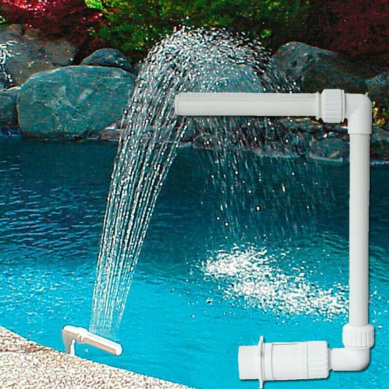 Estantería para fuente de agua para piscina, piscina, tubo para cabeza de fuente para piscina está conectado al suelo por encima de la piscina
