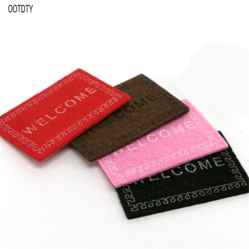 Nouveau 112 bienvenue tapis maison de poupée Miniature tapis accessoires ornement bricolage meubles
