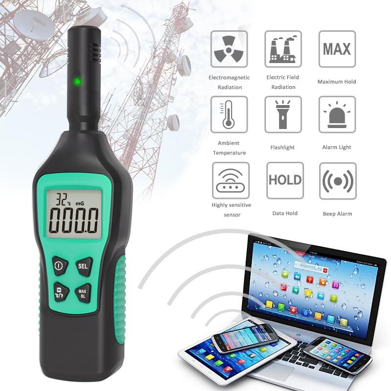 Цифровой детектор электромагнитного поля, температурный тестер излучения, EMF метр, дозиметр, детектор для компьютера, телефона