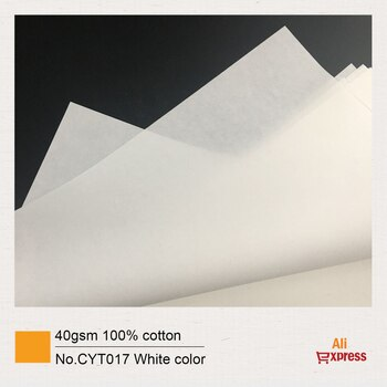 40gsm 100% cotton roller 21cm*3000m, white color starch-free waterproof CYT017