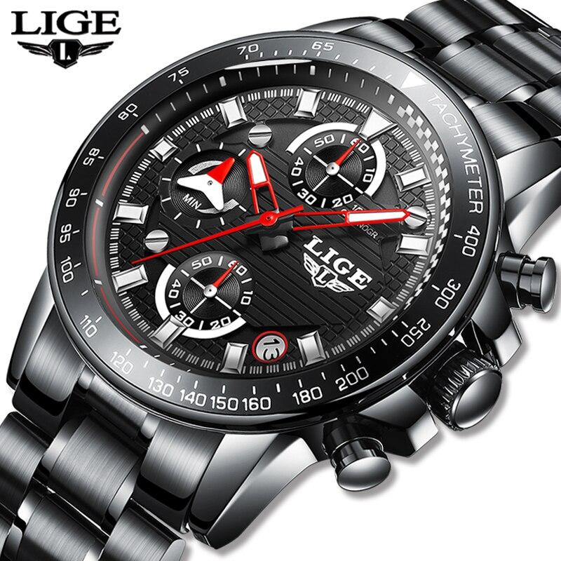 Mens Watches Top Brand Luxury Fashion Business Quartz Watch Men Sports Watch Waterproof Black Clock Relogio Masculino