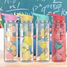 720ml Creative Tritan Water Bottle Animal Fruit Cartoon Cute Pleastic Bottle with Drink Straw Outdoo