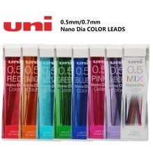 0.5/0.7mm Nano Dia Hi-quality Color Mechanical pencil leads easy erasable made in Japan 2pcs/lot