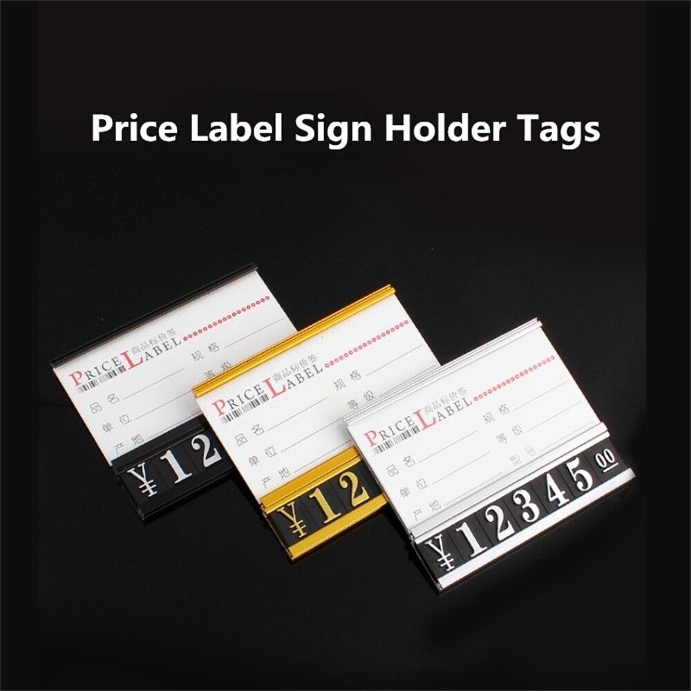 5 шт. регулируемые металлические полки палка цена этикетки держатель бумажных карточек товаров знак Дисплей держатель теги