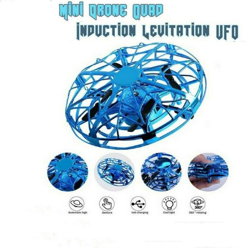 Mini drone quad indução levitação ufo led luz de carregamento usb crianças presente aniversário brinquedos para meninos meninas adulto