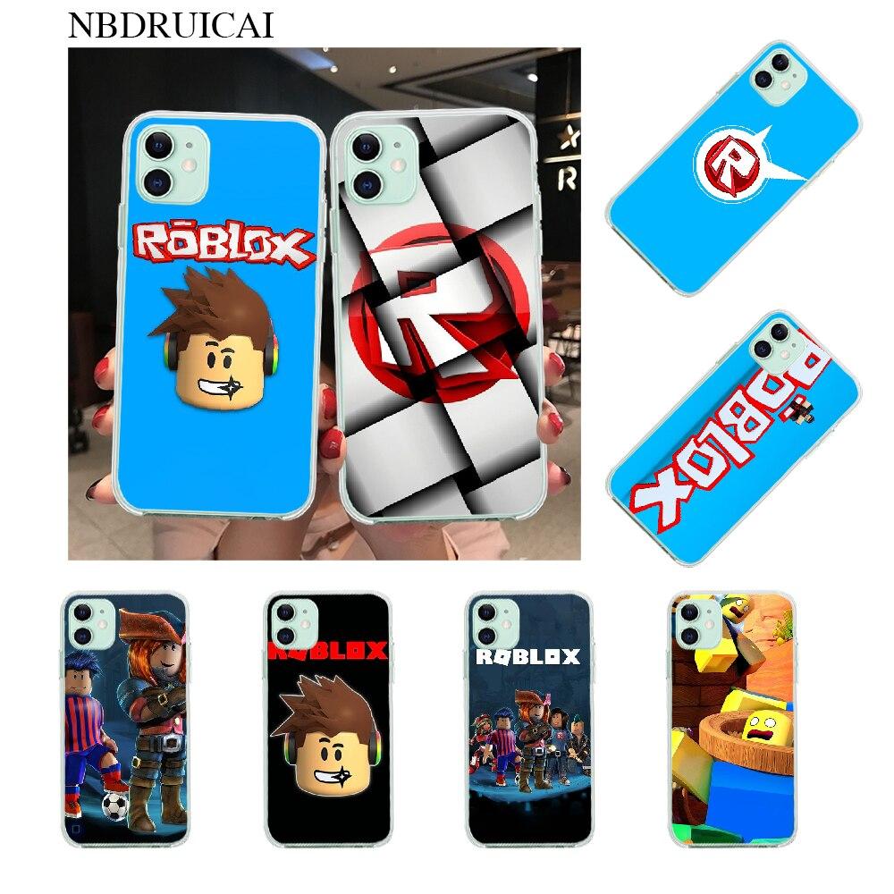 NBDRUICAI Popular juego Roblox logotipo DIY Teléfono de lujo para iPhone 11 pro XS MAX 8 7 6 6S Plus X 5S SE XR cubierta