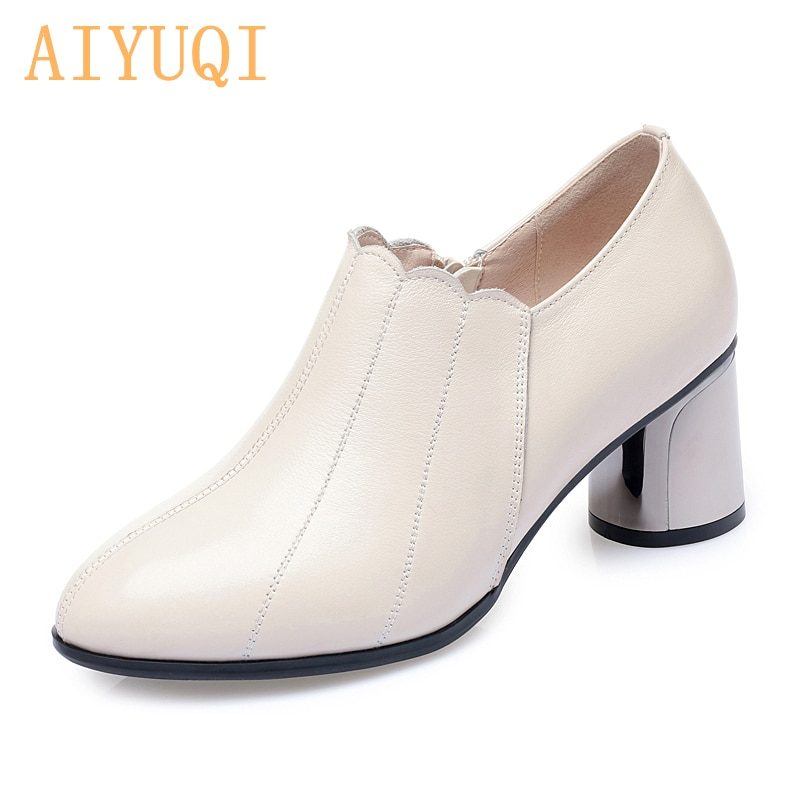AIYUQI Shoes Woman High Heel 2021 Women's Shoes Spring Genuine Leather Pointed Toe Fashion Women Par