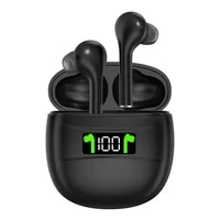 wireless earphones bluetooth compatible 5 2 headphones ipx7 waterproof earbuds led display hd stereo mic for xiaomi iphone