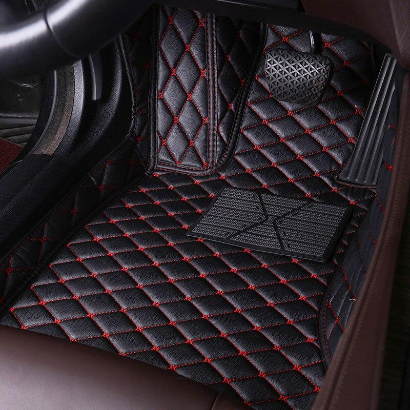 Custom Leather Car Floor Mats for Chery Tiggo 3 5X A5 E3 V5 EQ1 Qq Automobile Foot Mats Carpet Rugs