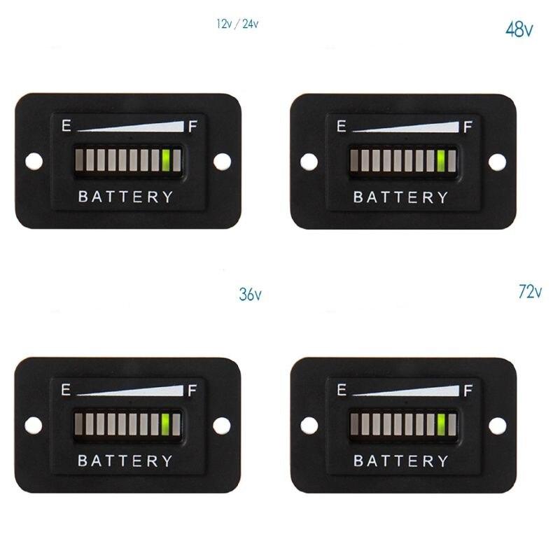 סוללה דלק מד חיווי LED 12-24V 36V 48V 72V עבור מזלג מעליות עגלות גולף 19QB
