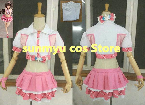¡Personalizar, envío gratis! Ídolo maestro Cenicienta chicas uzuki shimamura Cosplay traje de tamaño personalizado de Halloween venta al por mayor